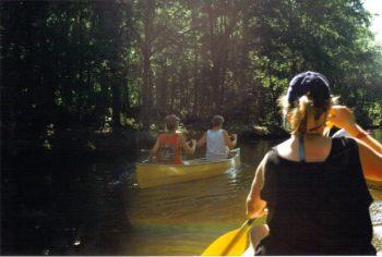 Canoeing on a bayou in Louisiana