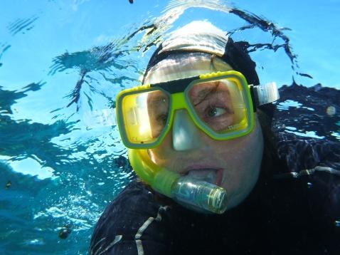 Wendy snorkelling