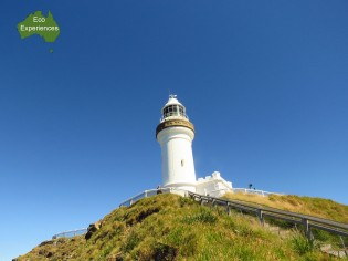 Cape Byron Lighthouse is 100m above sea level