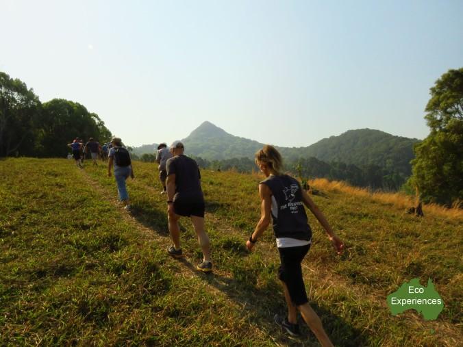 Walking up Mount Chincogan
