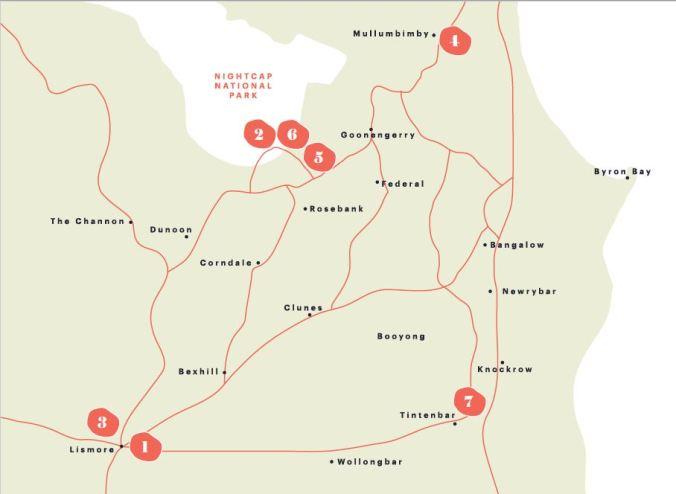 Big Scrub Rainforest Day map